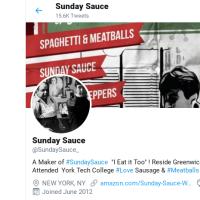 Visit Sunday Sauce on Twitter